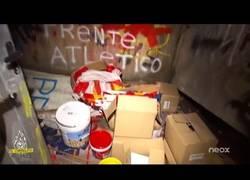 Enlace a VÍDEO: Esto es lo que esconde un mini-almacén del Frente Atlético