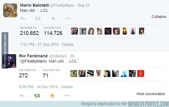 423260 - Rio Ferdinand se la devuelve al bocazas de Balotelli