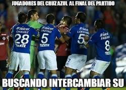 Enlace a ¿Has visto lo que han hecho los del Cruz Azul al finalizar el partido?