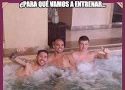 Enlace a El Real Madrid muy relajado en el Mundialito
