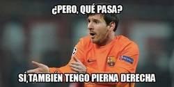 Enlace a Messi también tiene pierna derecha