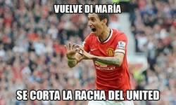 Enlace a Di María, el gafe del United