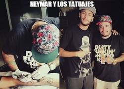 Enlace a Neymar y los tatuajes