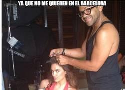 Enlace a Dani Alves es el nuevo peluquero de Irina