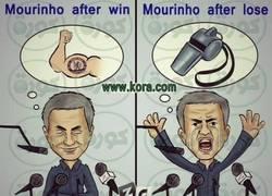 Enlace a Así es Mourinho tras ganar y tras perder