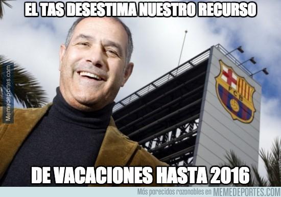 428076 - El TAS desestima el recurso del Barça y no podrá fichar hasta 2016