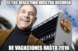 Enlace a El TAS desestima el recurso del Barça y no podrá fichar hasta 2016