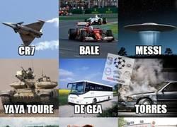 Enlace a Si los futbolistas fueran vehículos