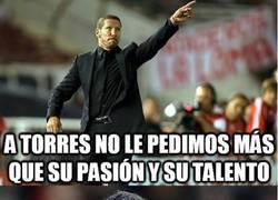Enlace a A Torres no le pedimos más que su pasión y su talento