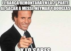 Enlace a El Barça remontará en la 2º parte al sacar a Messi, Neymar y Douglas