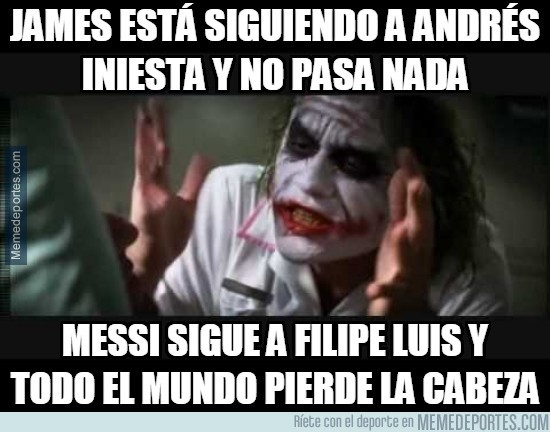430289 - James está siguiendo a Andrés Iniesta y no pasa nada