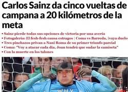 Enlace a Sainz en su línea