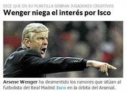 Enlace a Isco no es lo que necesita Wenger