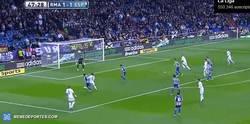 Enlace a GIF: El único gol de Coentrao con el Madrid ha sido contra el Espanyol. Temblad pericos