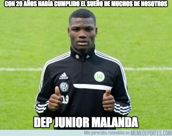 432009 - Fallece el jugador del Wolfsburgo Junior Malanda