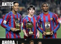 Enlace a El antes y ahora del tridente del Barcelona