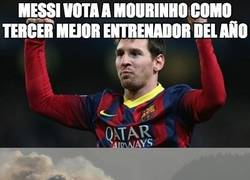 Enlace a Messi vota a Mourinho como tercer mejor entrenador del año