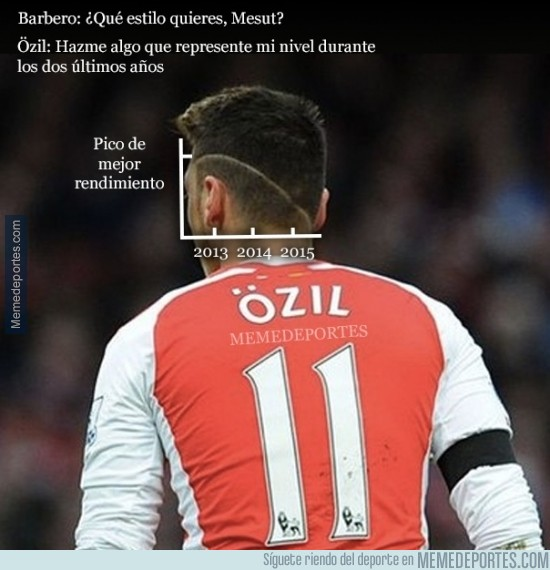 434566 - El rendimiento de Özil en su propio peinado