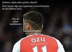 Enlace a El rendimiento de Özil en su propio peinado