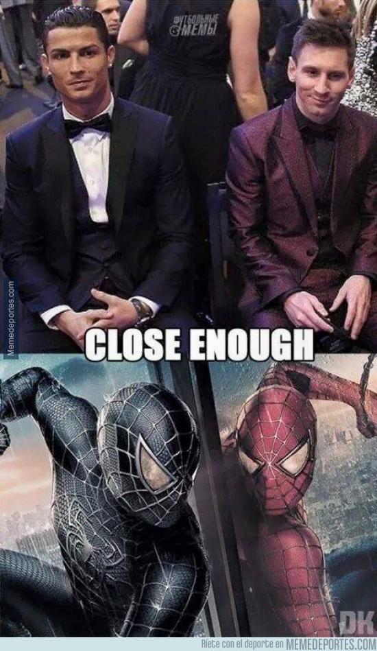 434772 - Messi, Cristiano y Spiderman, parecidos más que razonables
