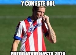 Enlace a Torres ya tiene gol para vivir de él unos cuantos años