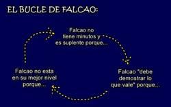 Enlace a El bucle eterno en el que Falcao vive inmerso