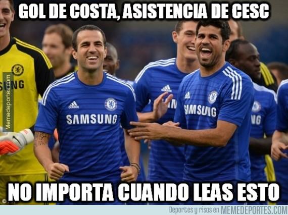 435814 - Y otro gol de Costa a pase de Cesc
