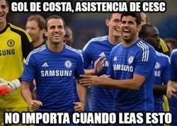 Enlace a Y otro gol de Costa a pase de Cesc