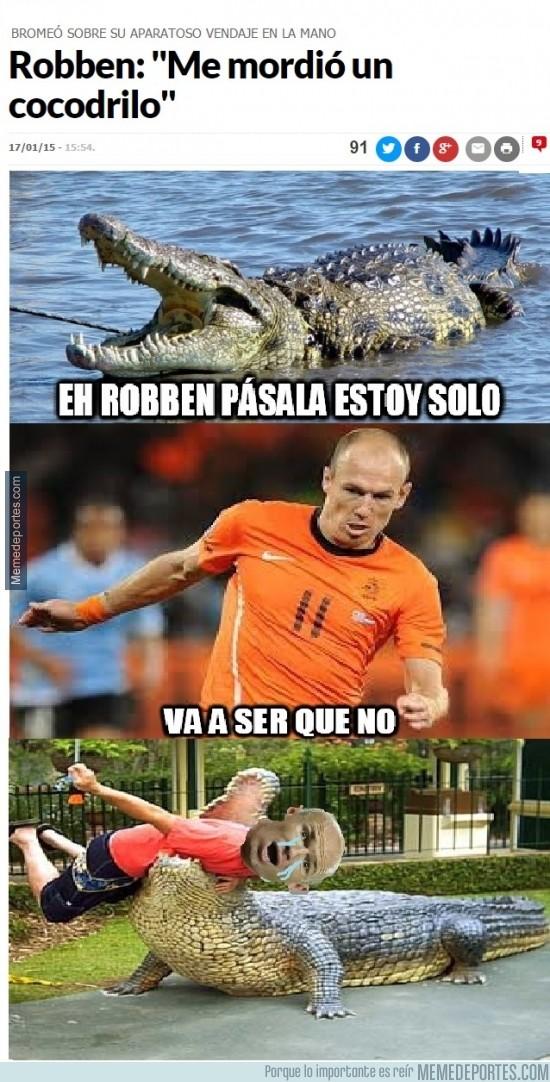 435877 - Robben es mordido por un cocodrilo