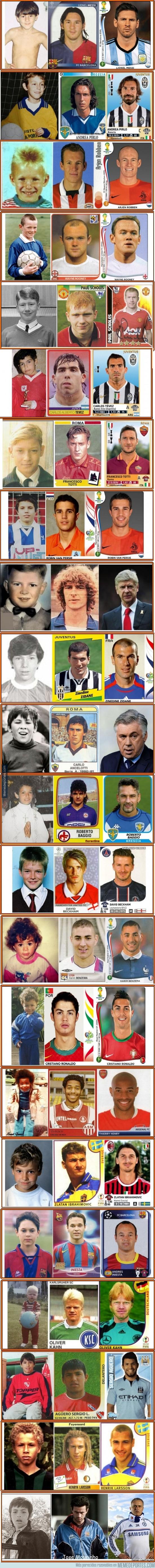 435886 - Evolución de leyendas del fútbol