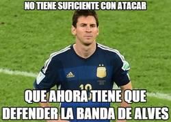 Enlace a Doble trabajo para Messi gracias a Alves