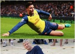 Enlace a Oliver Giroud imitando a Wenger