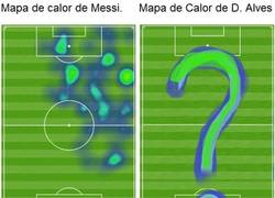 Enlace a Mapas de calor de Messi y Alves