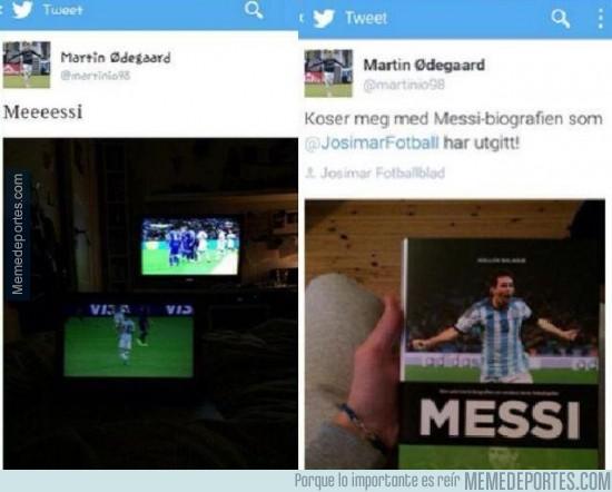 437621 - La perla Noruega, nuevo fichaje del Real Madrid, fan de Leo Messi