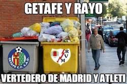 Enlace a Getafe y Rayo, vertedero de Madrid y Atleti