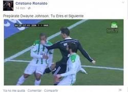 Enlace a Cristiano amenaza a la 'La Roca' por quitarle a Irina #fake