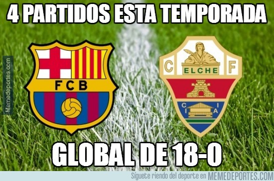 438616 - 4 partidos esta temporada entre Barça y Elche