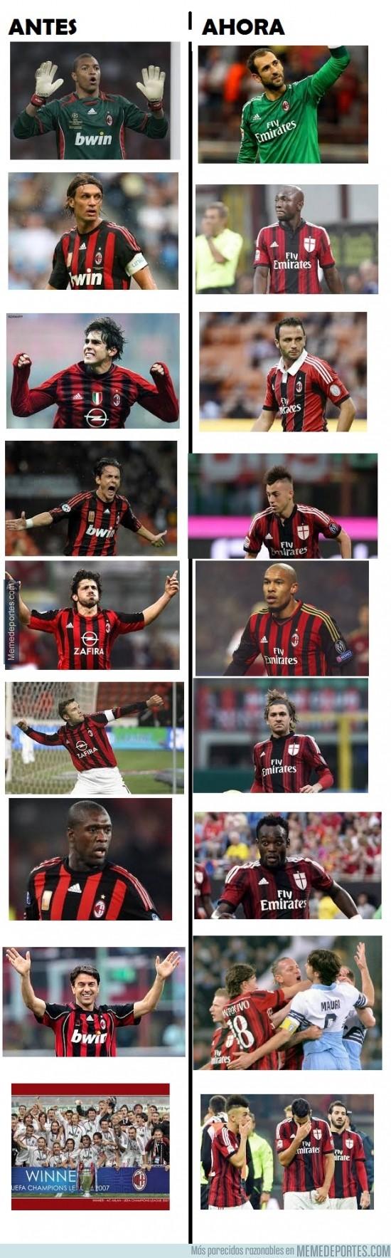 438876 - Si un aficionado del Milan, ve esta comparación, rompe a llorar