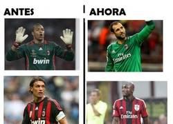 Enlace a Si un aficionado del Milan, ve esta comparación, rompe a llorar