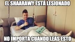 Enlace a El Shaarawy otra vez lesionado