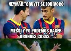 Enlace a Neymar le contesta a Cruyff de la mejor manera, con hechos