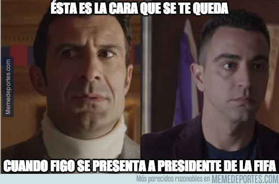 440374 - ¡Ojo que Figo se presenta para presidente de la FIFA! El Barça está jodido
