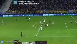Enlace a GIF: Golazo de Colazo para meter a Boca Juniors a la Copa Libertadores