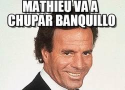 Enlace a Mathieu va a pasar algunos partidos a la sombra, por hablar demasiado