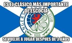 Enlace a Rangers vs Celtic. Imagina q no hubiera un Barça-Madrid en 3 años