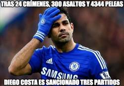 Enlace a Sanción a Diego Costa de tres partidos