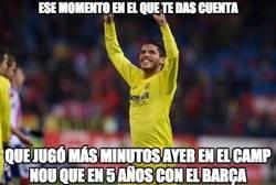 Enlace a El mexicano Dos Santos por fin juega minutos en el Camp Nou