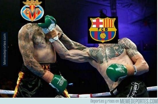 443275 - El Barça golpea antes y se lleva el primero de los 3 asaltos contra el Villareal