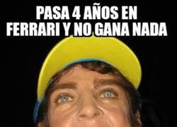 Enlace a Lo de Fernando Alonso parece una broma