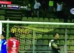 Enlace a GIF: Golazo del 'zurdo' Rojas en la Copa Libertadores